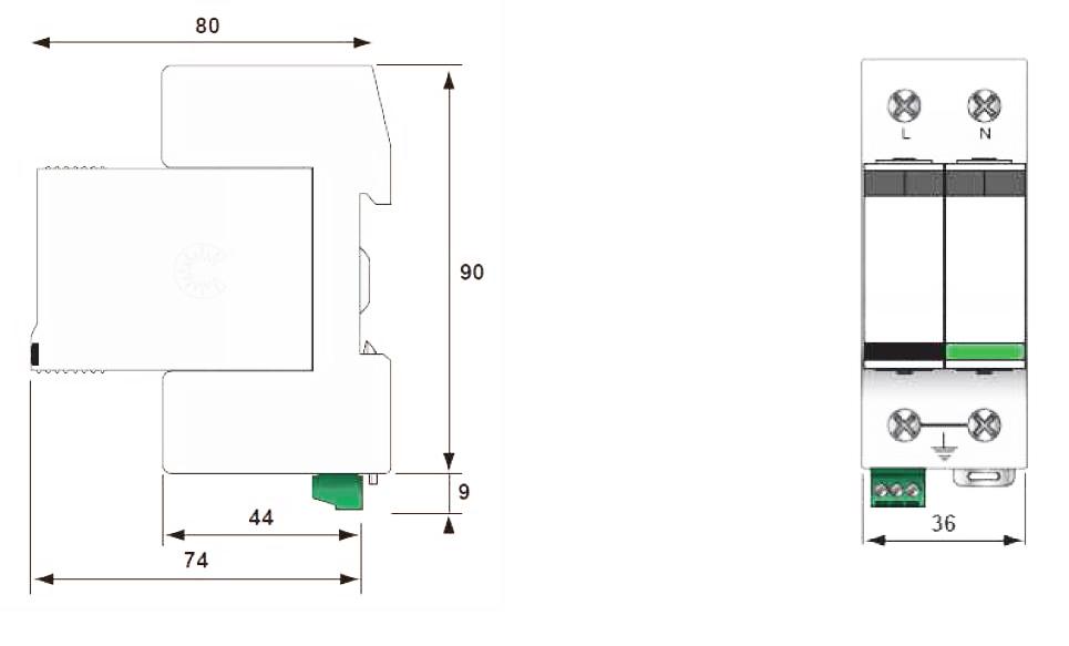 Габаритный чертеж DS132VGS-230/G