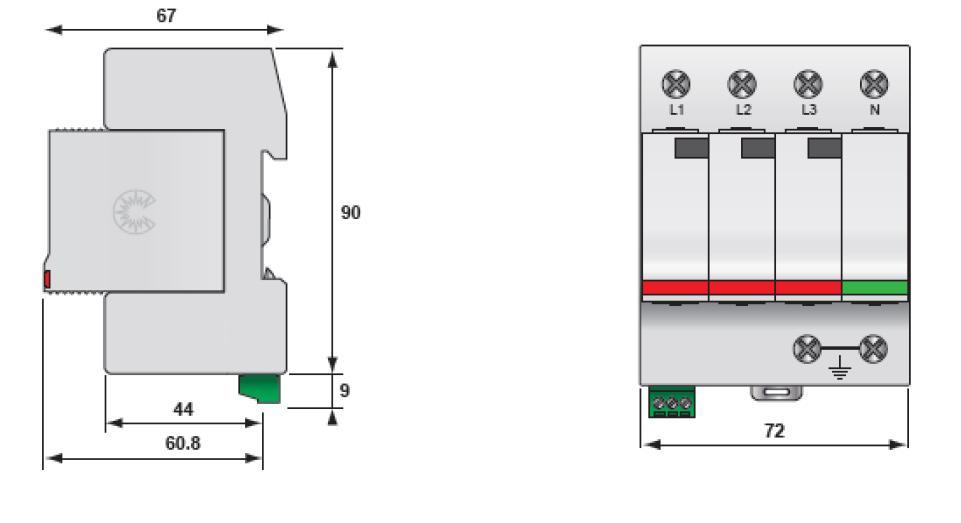 Габаритный чертеж DS44S-230/G