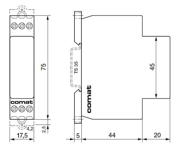 Габаритный чертеж CIM1/UC24-240V