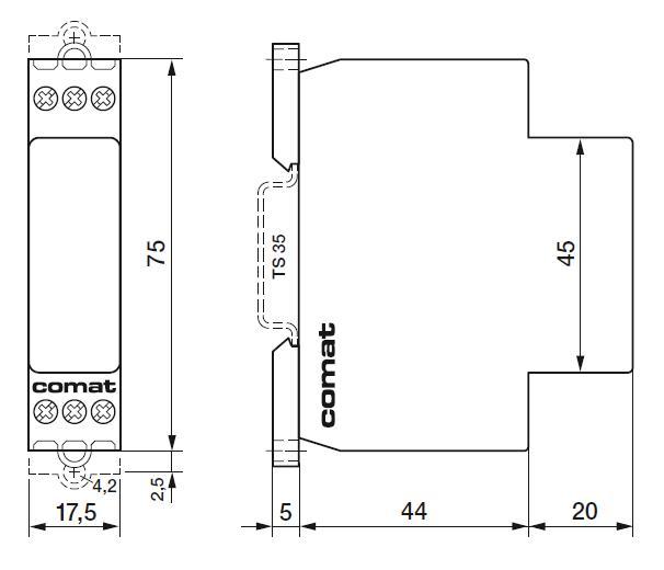 Габаритный чертеж CIM3/UC24-240V