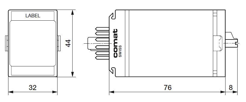 Габаритный чертеж CS3/UC12-240V