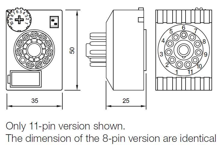 Габаритный чертеж CT2-A30/L UC20-65V