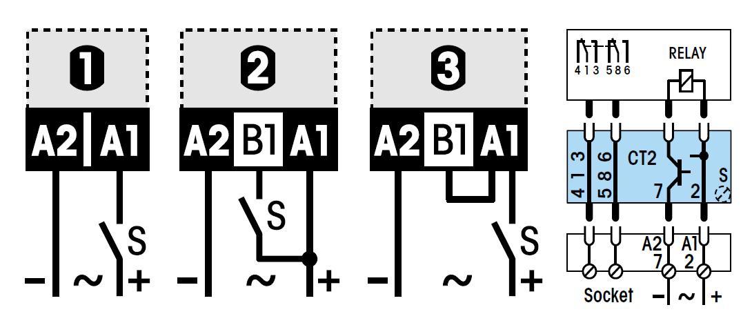 Схема подключения CT2-A30/L UC20-65V
