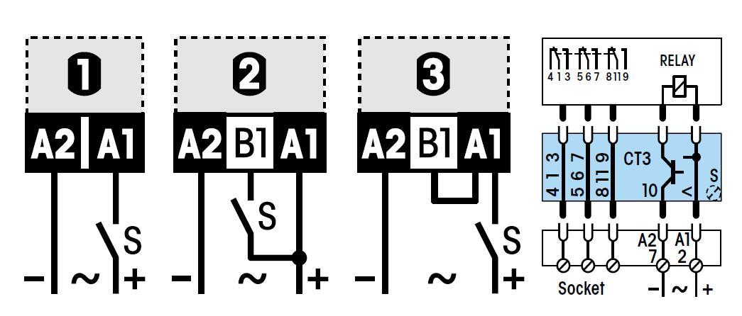 Схема подключения CT3-A30/S DC9.5-18V