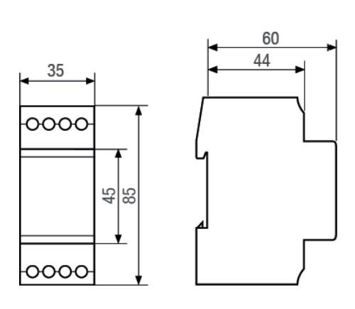 Габаритный чертеж TALENTO 881 PRO 24VAC/DC 110-230VAC