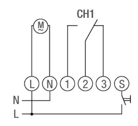 Схема подключения TALENTO 881 PRO 24VAC/DC 110-230VAC