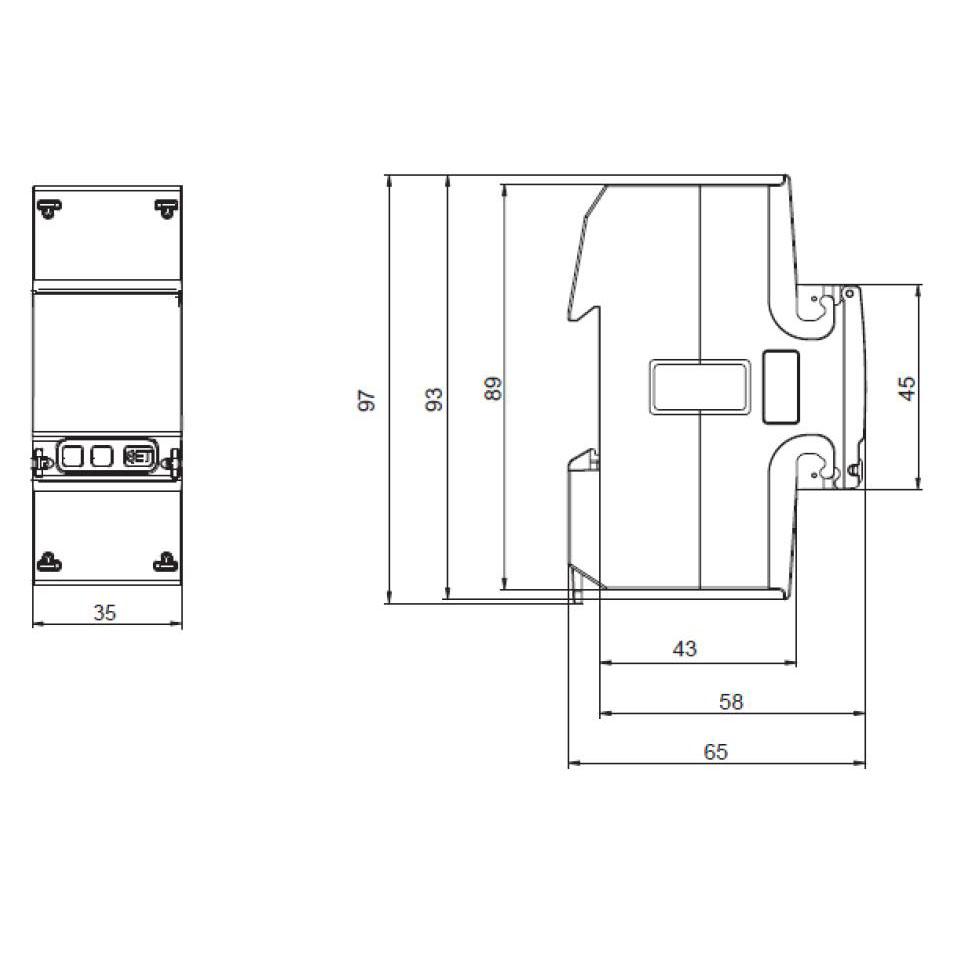 Габаритный чертеж B21 313-10 14.01.355