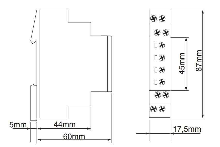 Габаритный чертеж E1PF400VSY01 (VE10)