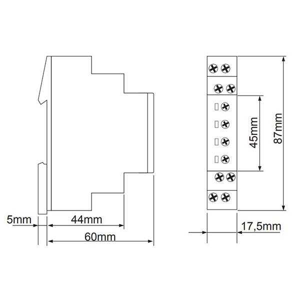 Габаритный чертеж E1PF480Y/277VSY10