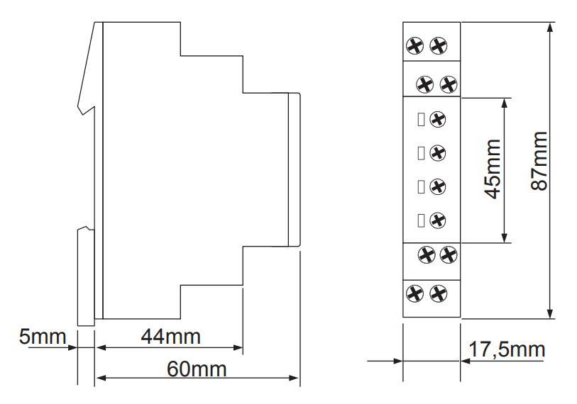 Габаритный чертеж E1YF400V01 0,70