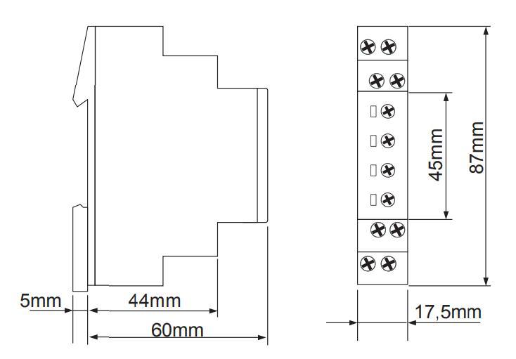Габаритный чертеж E1YM400VS10