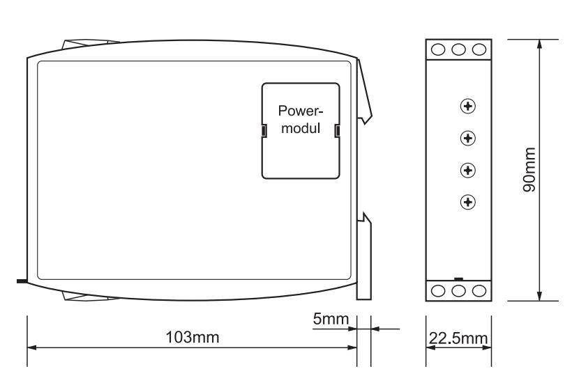 Габаритный чертеж G2PM400VSY20 24-240VAC/DC