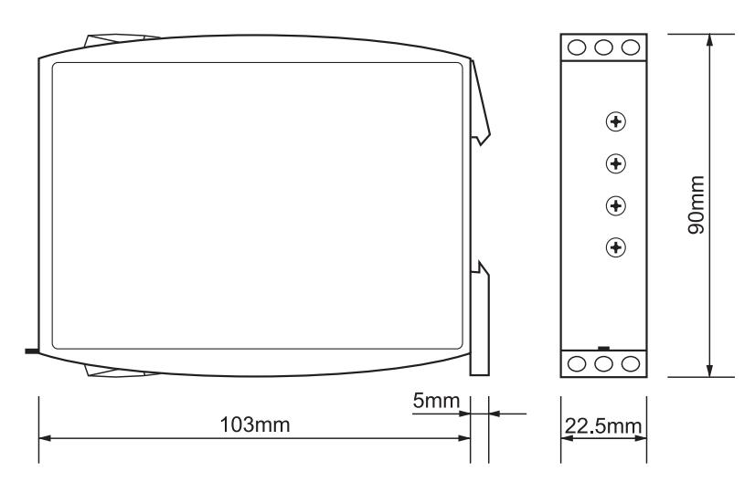 Габаритный чертеж G2UM300VL20 24-240VAC/DC