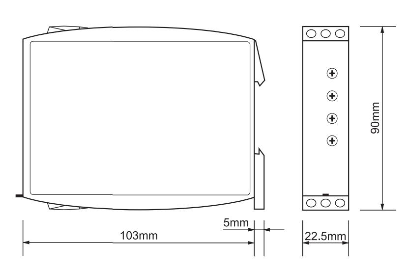 Габаритный чертеж G2ZA20 10MIN 24-240VAC/DC