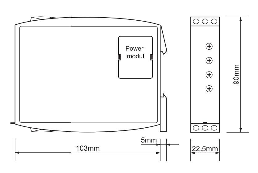 Габаритный чертеж G2ZA20 10MIN