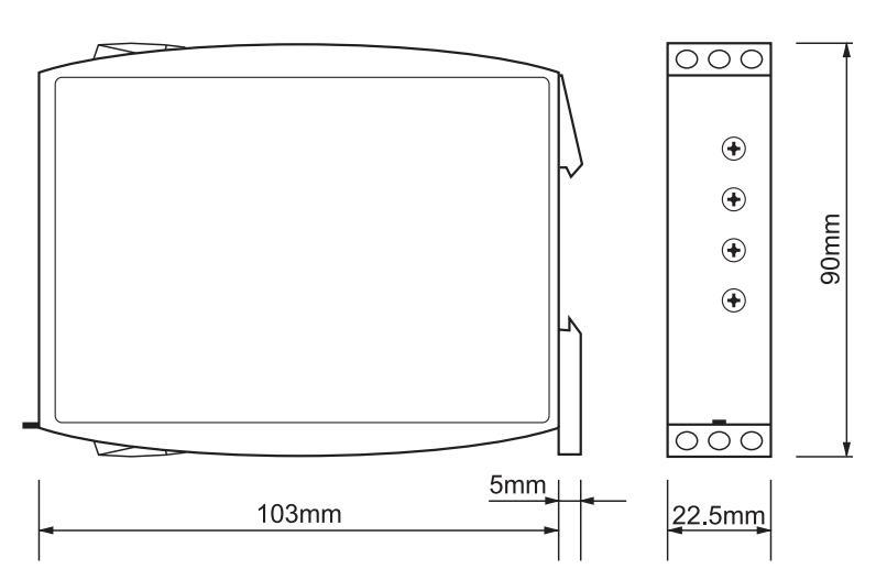 Габаритный чертеж G2ZIF20 24-240VAC/DC
