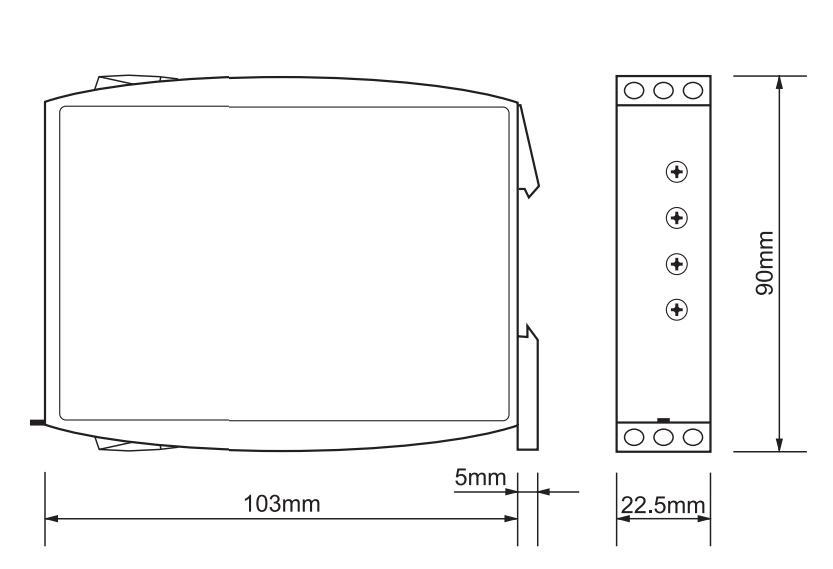 Габаритный чертеж G2ZM20 12-240VAC/DC