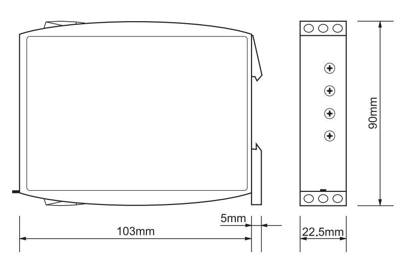 Габаритный чертеж G2ZMF11 24-240VAC/DC