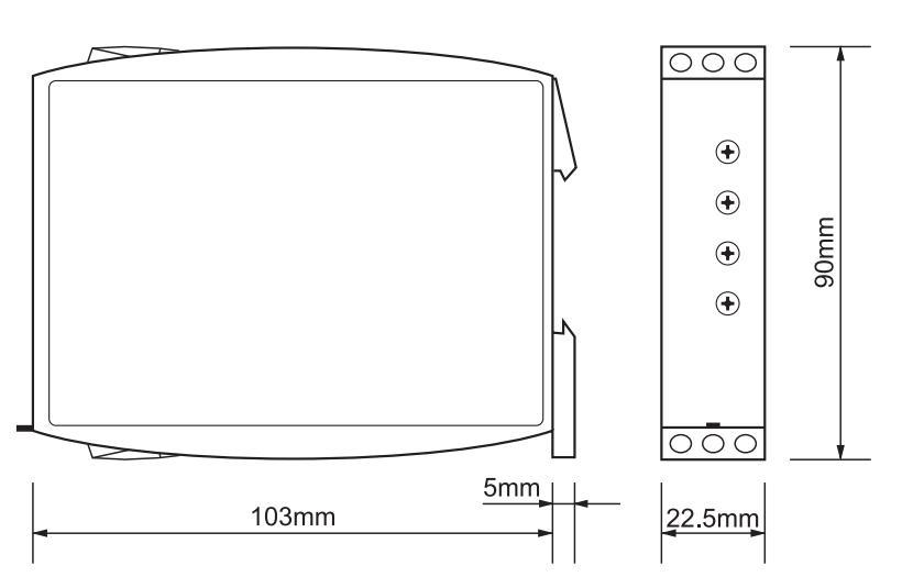 Габаритный чертеж G2ZS20 24-240VAC/DC