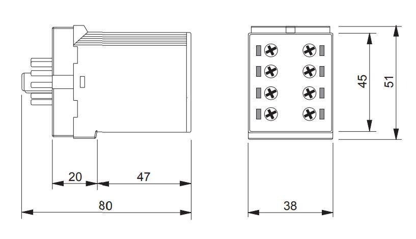 Габаритный чертеж K3ZA20 24-240VAC/DC