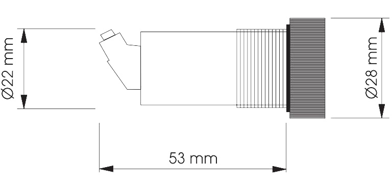 Габаритный чертеж SRE2-PNP 1SEC 24VDC