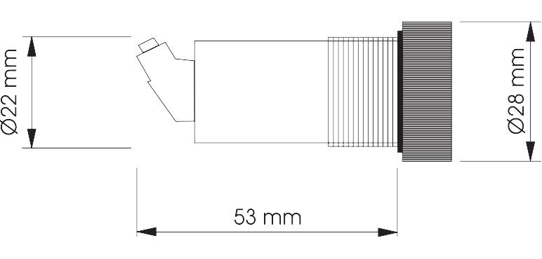 Габаритный чертеж SRW2-PNP 10SEC 24VDC