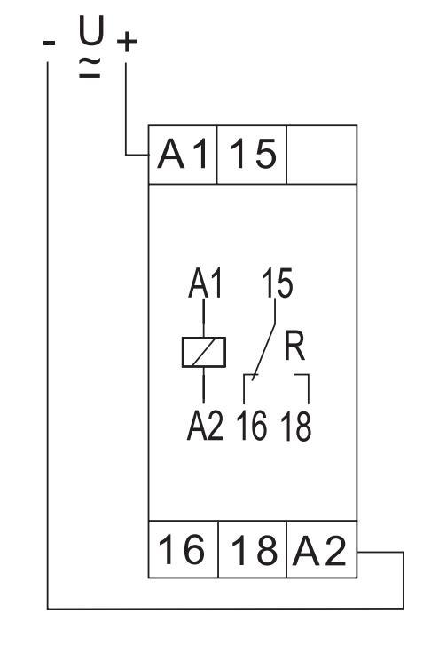 Схема подключения D6A 10MIN 24-240VAC/DC