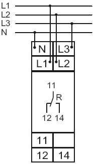 Схема подключения E1PF400VSY01