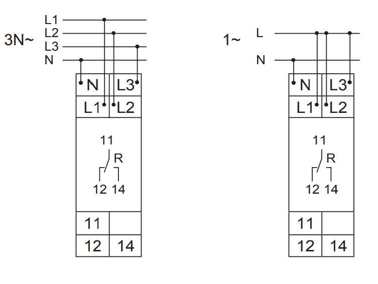 Схема подключения E1YF400V01 0,70