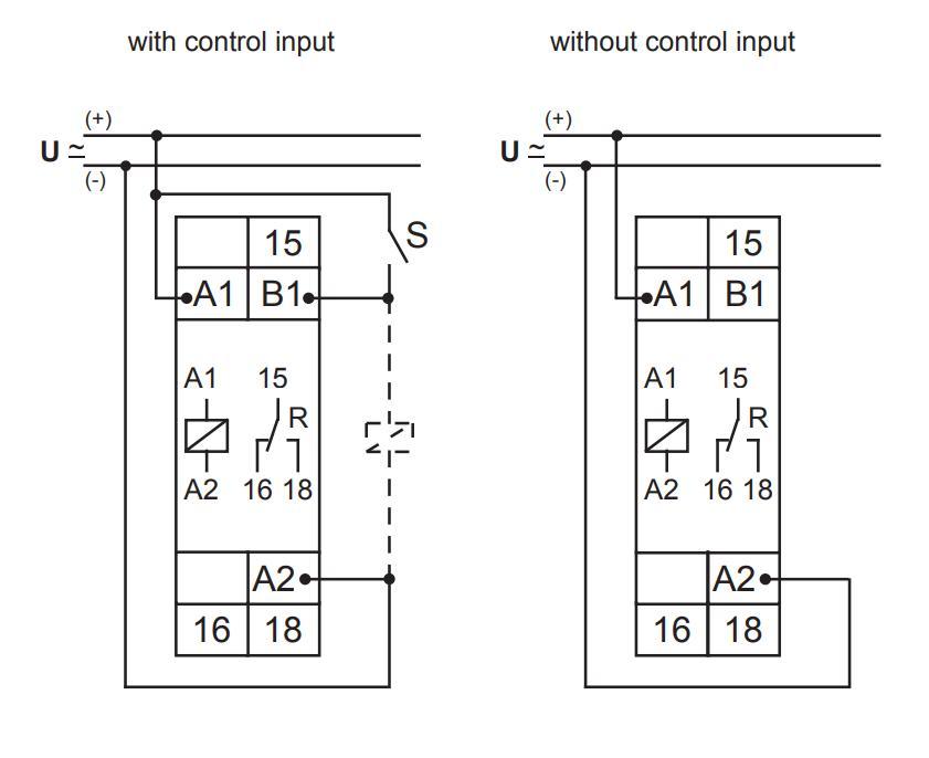 Схема подключения E1Z1E10 24-240VAC/DC (VE10)