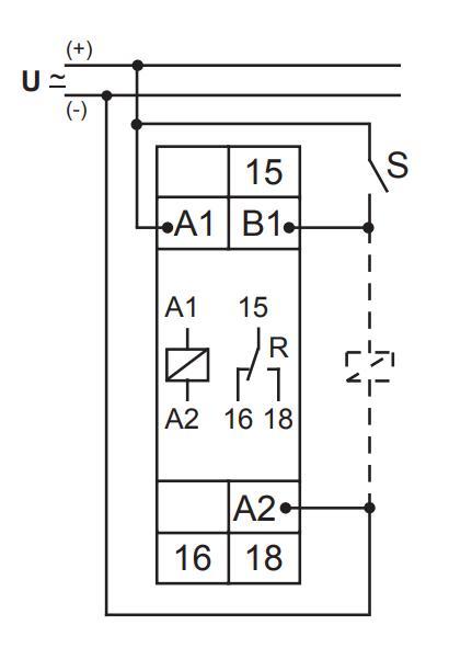 Схема подключения E1Z1ER10 24-240V AC/DC (VE10)