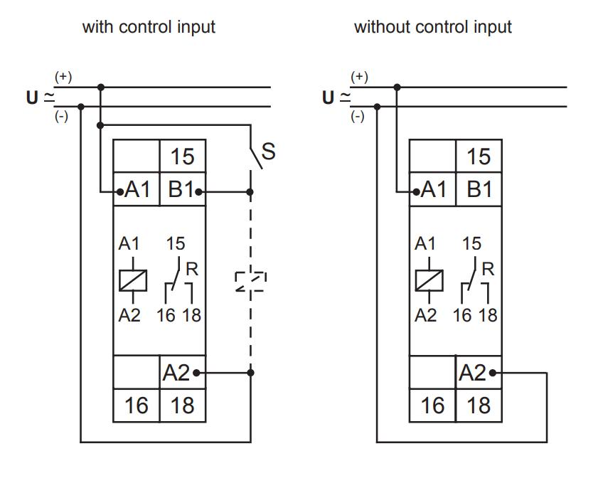 Схема подключения E1Z1R10 24-240V AC/DC (VE10)