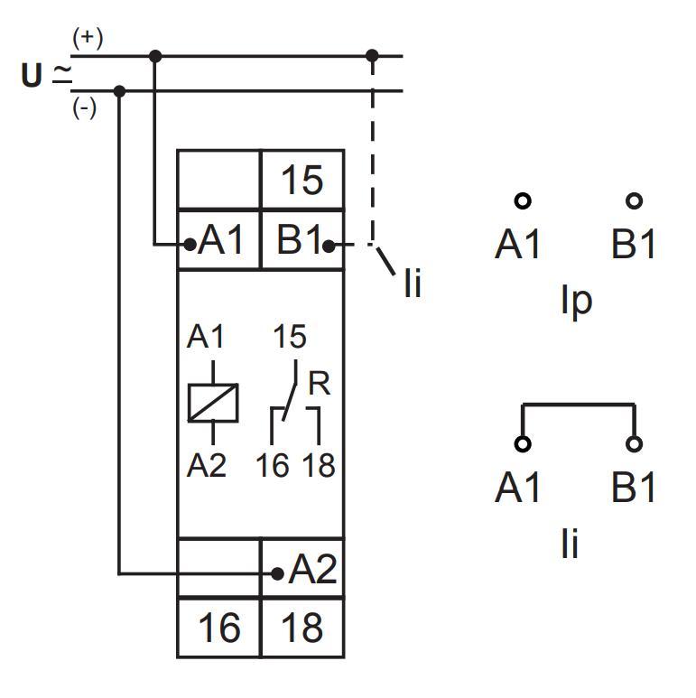 Схема подключения E1ZI10 12-240VAC/DC
