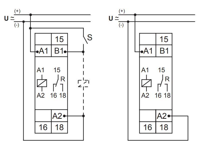 Схема подключения E1ZMW10 24-240VAC/DC (VE10)