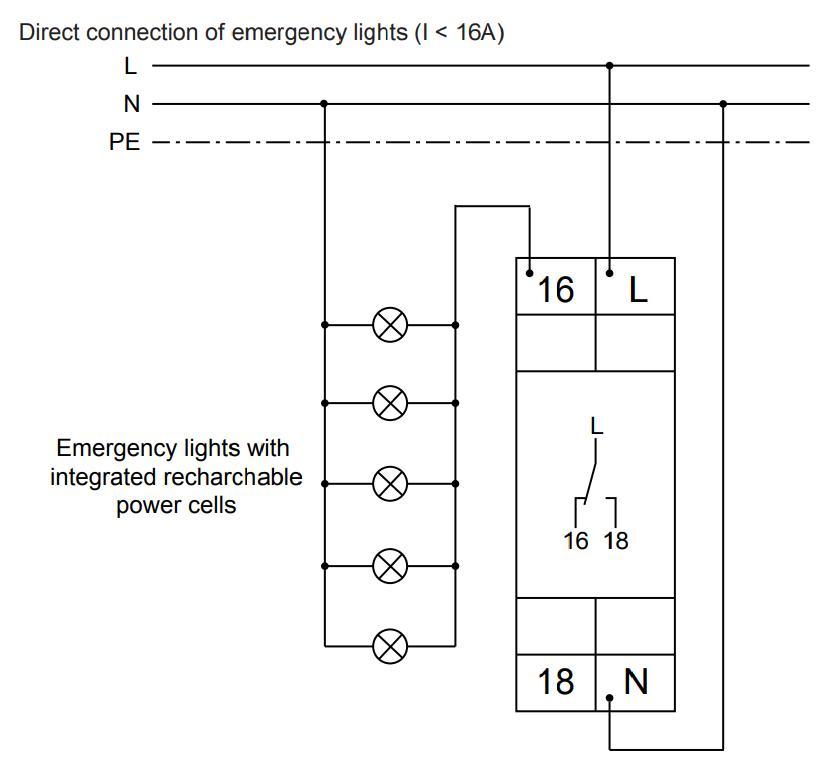 Схема подключения E1ZNT 230VAC