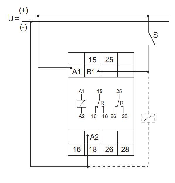 Схема подключения E3ZI20 12-240VAC/DC