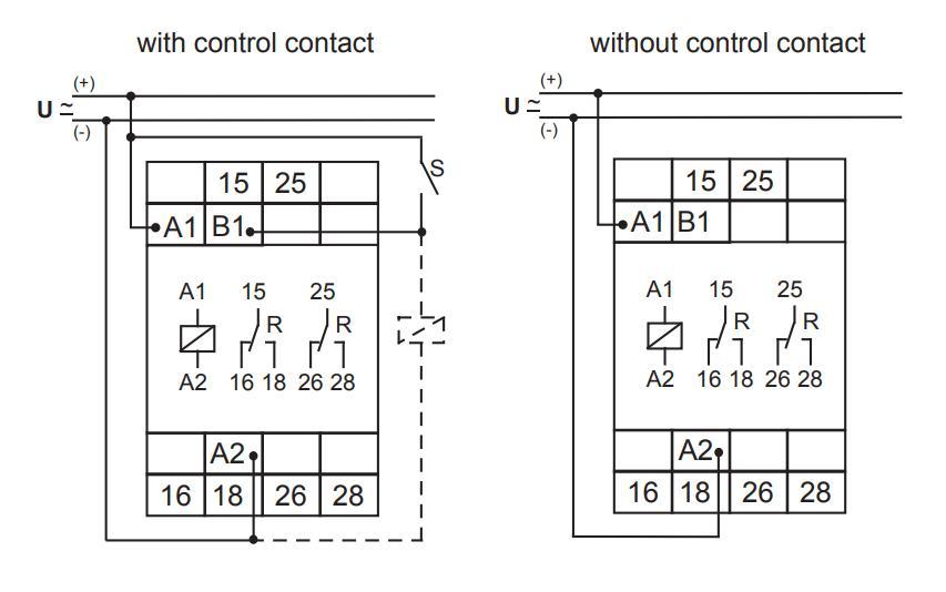 Схема подключения E3ZM20 12-240VAC/DC
