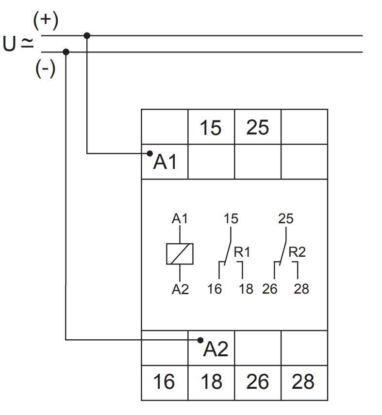 Схема подключения E3ZS20 12-240VAC/DC