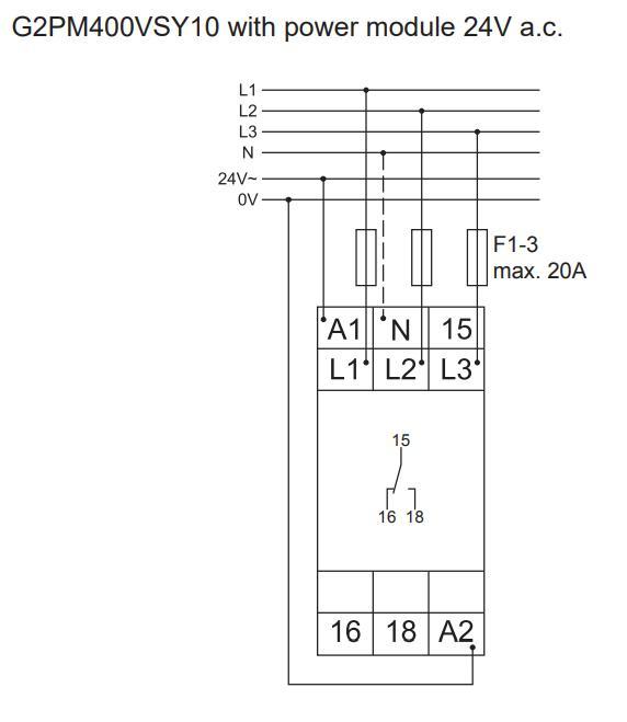 Схема подключения G2PM400VSY10