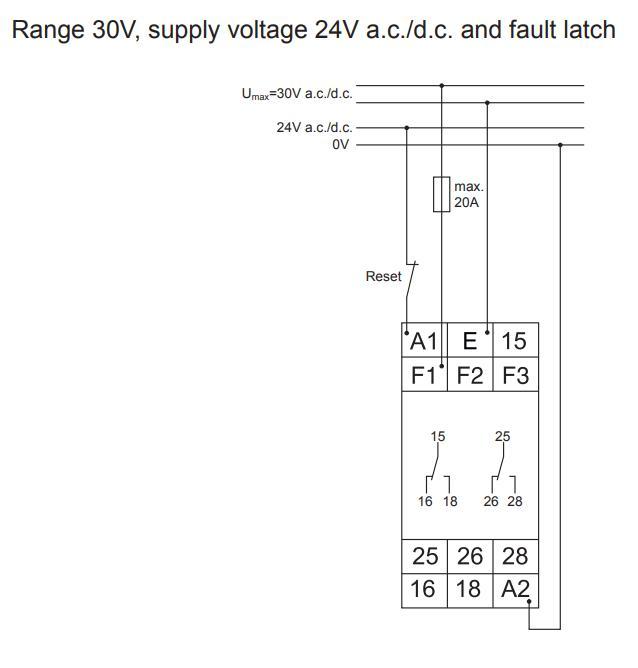 Схема подключения G2UM300VL20 24-240VAC/DC