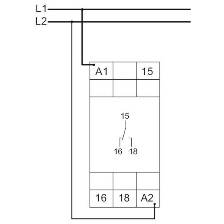 Схема подключения G2ZE10 400V AC
