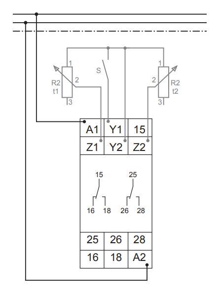 Схема подключения G2ZIF20 24-240VAC/DC