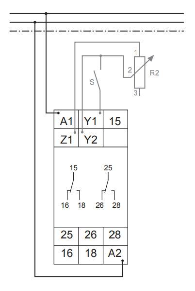 Схема подключения G2ZMF11 24-240VAC/DC