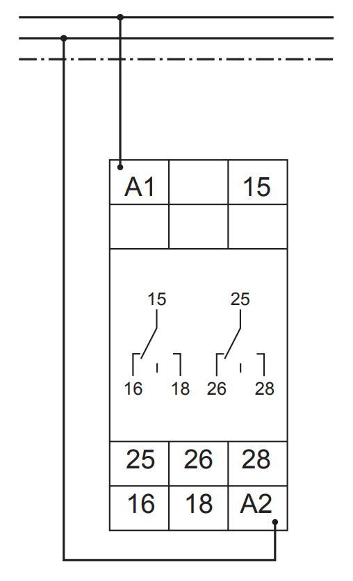 Схема подключения G2ZS20 24-240VAC/DC