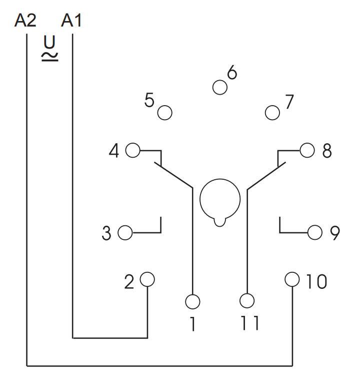 Схема подключения K3ZA20 24-240VAC/DC