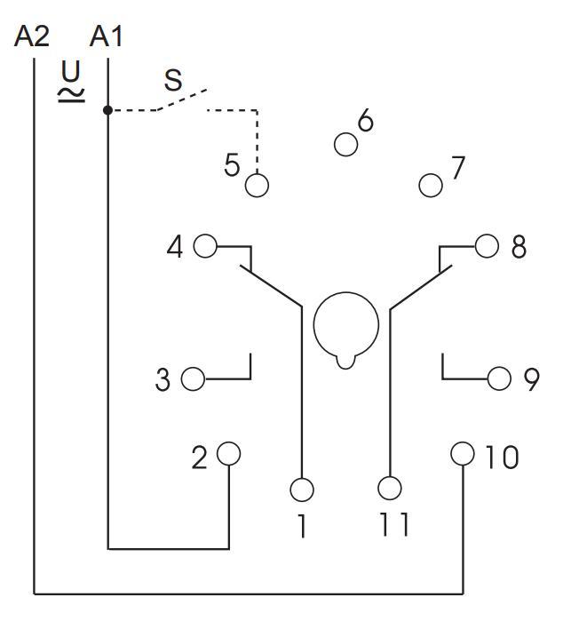 Схема подключения K3ZI20 12-240V AC/DC