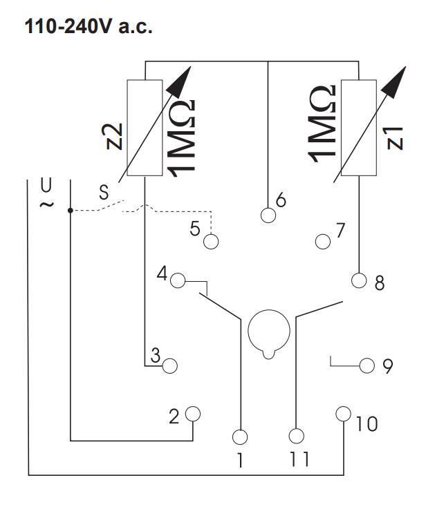 Схема подключения K3ZIF20 24V AC/DC 110-240V AC