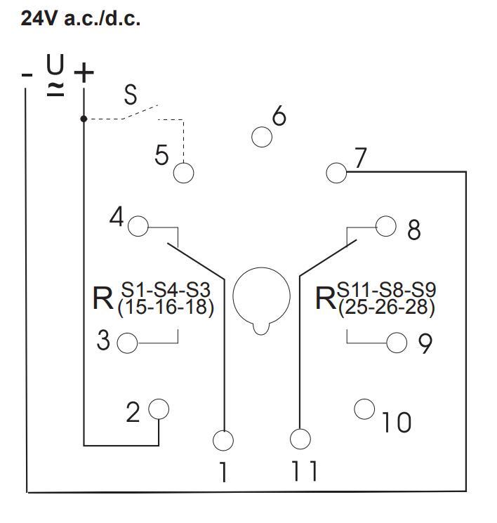 Схема подключения K3ZM11 24V AC/DC 110-240V AC
