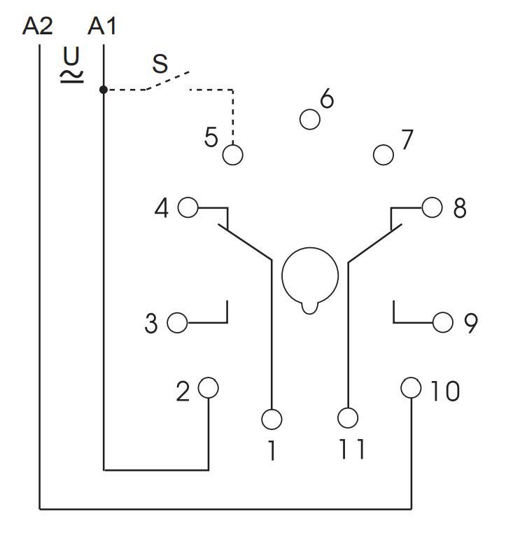 Схема подключения K3ZM20 12-240V AC/DC