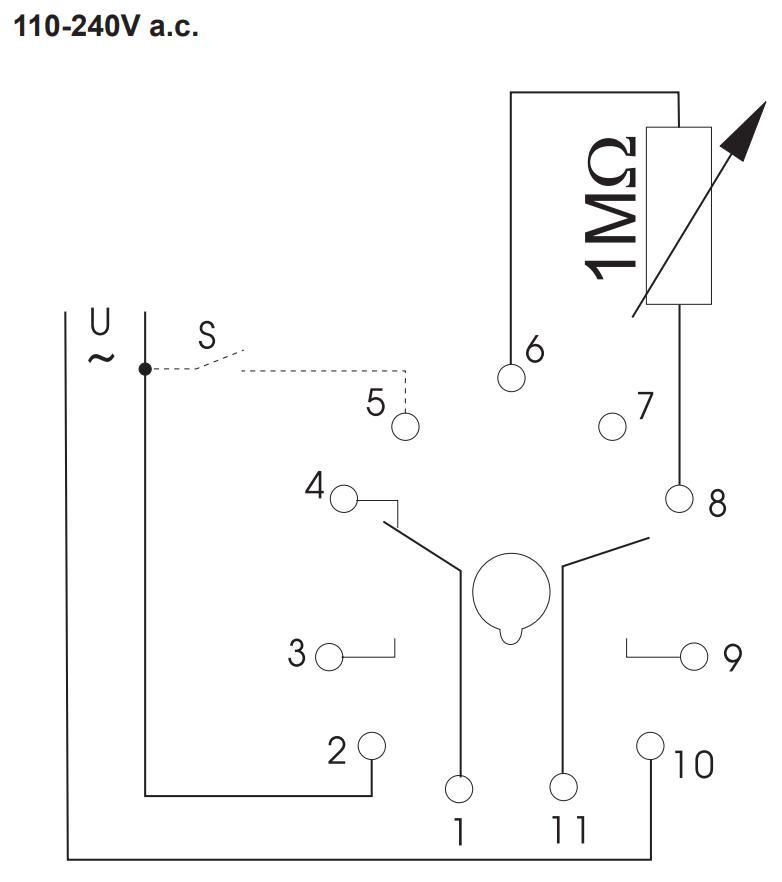 Схема подключения K3ZMF20 24V AC/DC 110-240V AC
